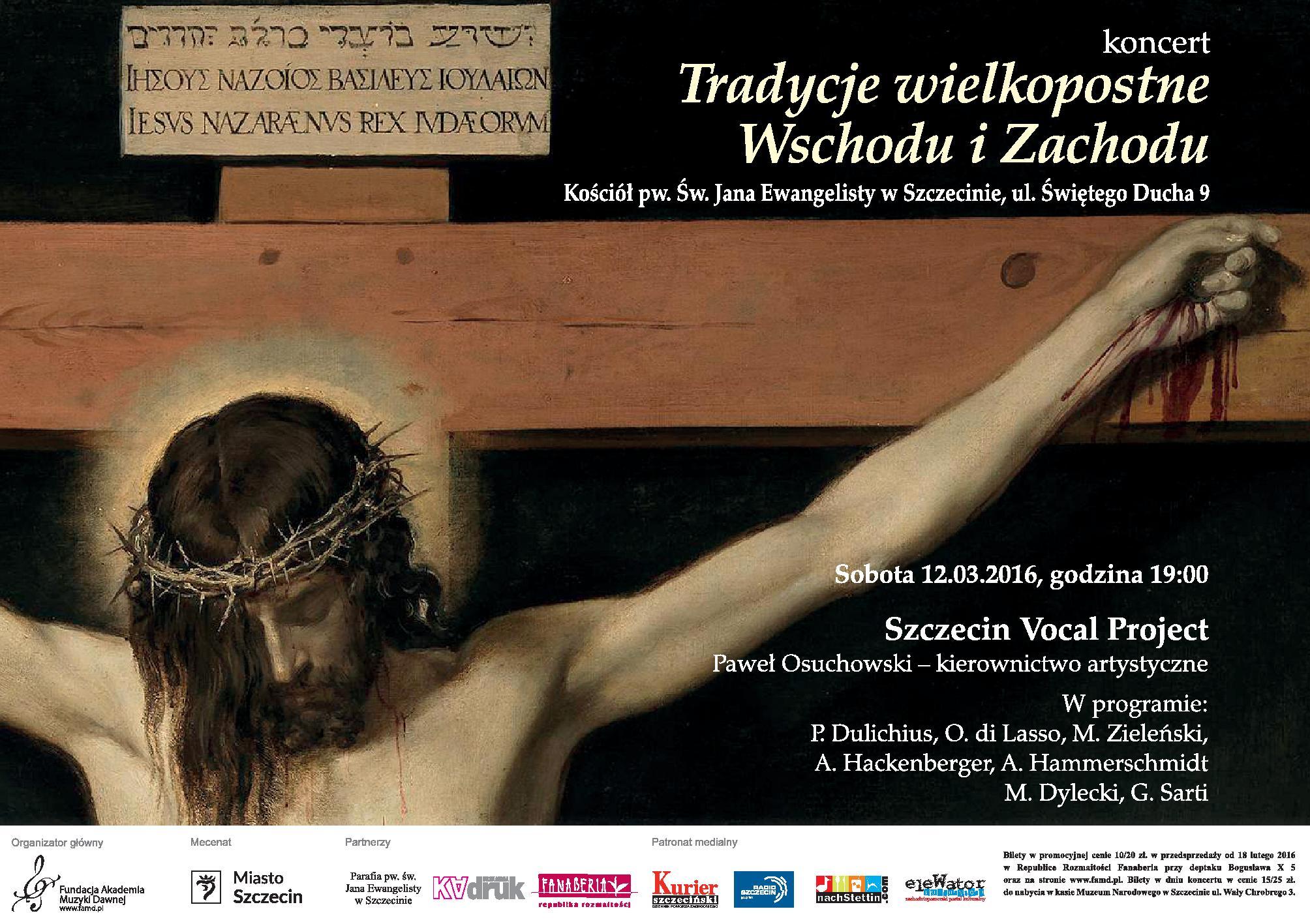 Tradycje wielkopostne Wschodu i Zachodu w wykonaniu Szczecin Vocal Project, Paweł Osuchowski